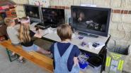 Les enfants ont pu s'essayer sur des consoles de jeux vidéo à l'extérieur, sous le préau