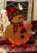Un joli bonhomme de neige chaleureux!
