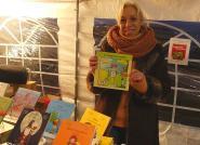 """Séverine De La Porte Des Vaux, illustratrice du livre """"Eclair au jardin"""", destiné à sensibiliser les enfants aux risques de la maison"""