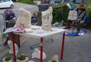 La Fête du livre et des arts c'est aussi de la sculpture...
