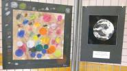 Ici les écoliers se sont appuyés sur l'oeuvre d'Odile Levigoureux, intitulée
