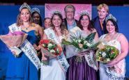 Miss Miss ronde France 2016 entourée des dauphines. Crédit photo : Thomas Sauvage