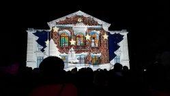 """Mapping vidéo à Vailly-sur-Aisne pour """"Les Féeries de Noël"""" - Tmavision Pere Noël maison"""